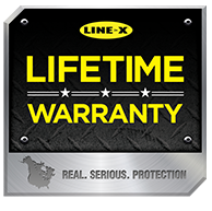 LINE-X® Lifetime Warranty Badge